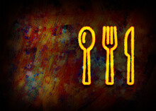 Cutlery Icon Fractal Painting ...