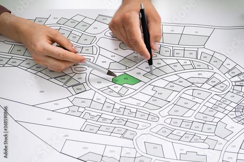 Obraz Cadastre Land Map - fototapety do salonu