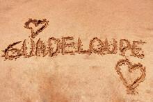 Guadeloupe écriture Sur Le Sa...