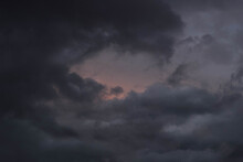 Clouds At Sunset After Rain