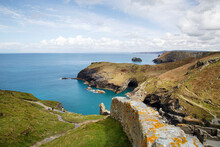 Cornish Coastline At Tintagel - Cornwall