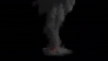Realistic Big Explosion With Fire And Smoke Clouds - ALPHA CHANNEL