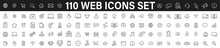 Simple Set Of 110 Web Icons Th...