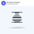 Machine Press icon vector, filled flat sign, solid pictogram isolated on white, logo illustration. Machine Press icon for presentation.