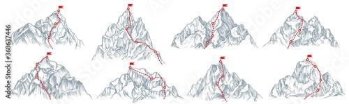 Tablou Canvas Mountain route set
