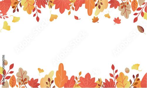 Photo 秋の紅葉フレーム素材