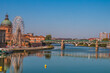 """The Pont Neuf, French for """"New Bridge"""" is a 16th-century bridge in Toulouse, in the South of France on the Garonne River."""