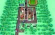 canvas print picture - Cartoon style miniature city visualization, 3d rendering, 3d illustration