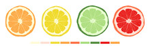 Set Of Citrus Slices Of Lime, ...