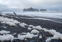 Sea Foam, Water And Sea Stacks...