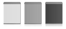 Blank Blu-ray Case White, Grey, Black.
