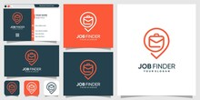 Logo For Job Searching With Li...