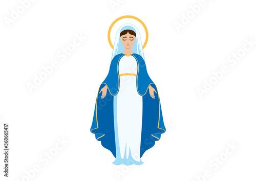 Holy Virgin Mary icon vector Fototapet