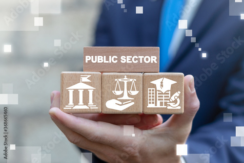 Public Sector Government Education Health Municipal Service Provide People Infrastructure Concept Fototapet