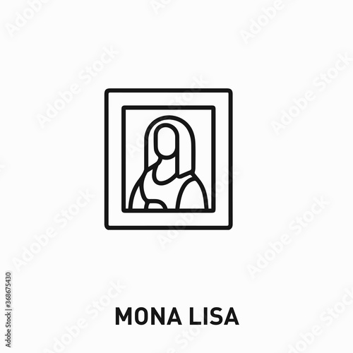 Cuadros en Lienzo Mona Lisa icon vector