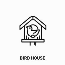 Bird House Icon Vector. Bird House Sign Symbol For Your Design