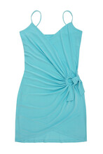 Summer Blue Dress Is On White Background