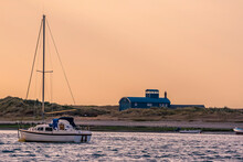 A Boat Moored At Blakeney Poin...