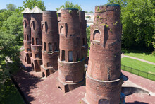 Old Cement Kilns From The 19th Century, Out Of Use In Coplay, Pennsylvania