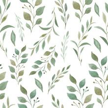 Greenery Seamless Pattern. Han...