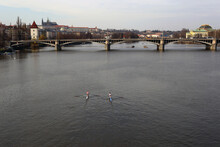 Vltava River. Prague. Kayak