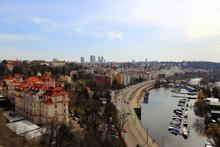 Vltava River. Prague. Kayak.