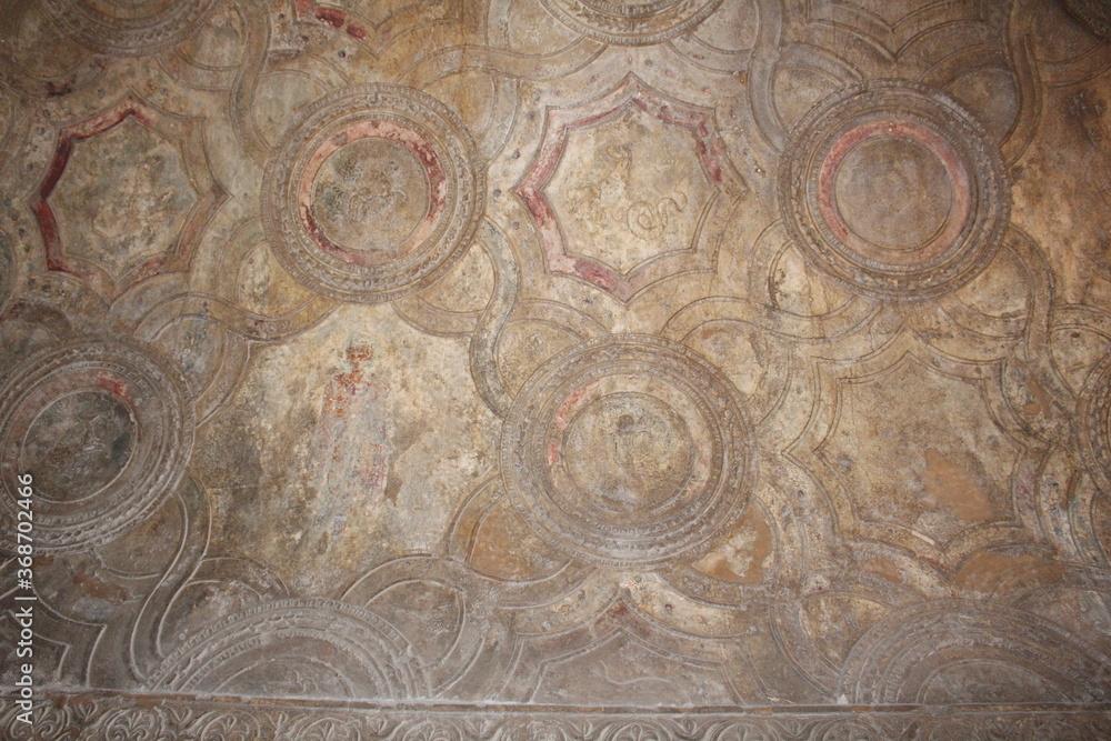 Fototapeta old wooden ceiling