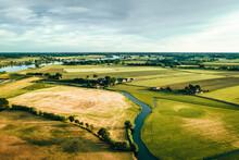 Aerial View Of Idyllic Farmlan...