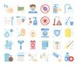 hygiene flat vector icons