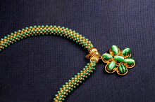 Green Beads Pendant Necklace, ...