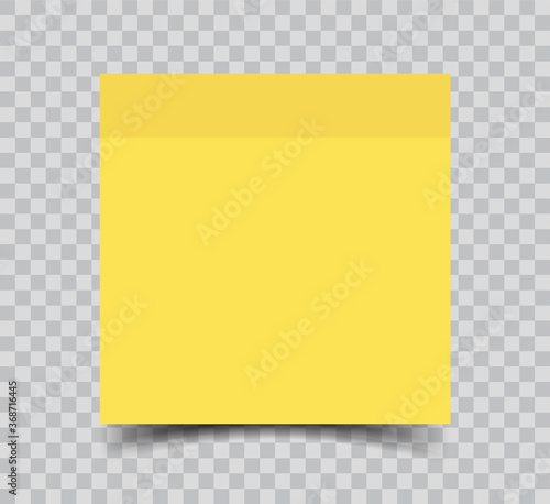 Sticky note paper isolated realistic vector illustration Slika na platnu