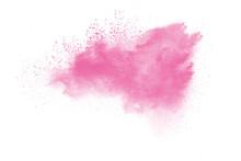 Pink Powder Explosion On White...