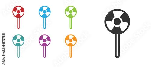 Fotografia Black Lollipop icon isolated on white background