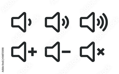 Speaker icon symbol set Canvas Print