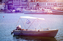 Small Fishing Boat In The Port...