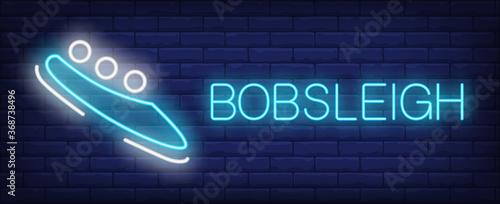 Foto Bobsleigh neon sign