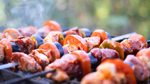 Juicy Shish Kebab In The Grill...