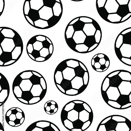 Obrazy Sporty z Piłkami  seamless-pattern-tile-with-soccer-ball-shapes-football