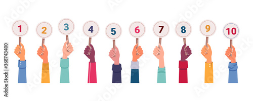 Isolated hands with score Wallpaper Mural