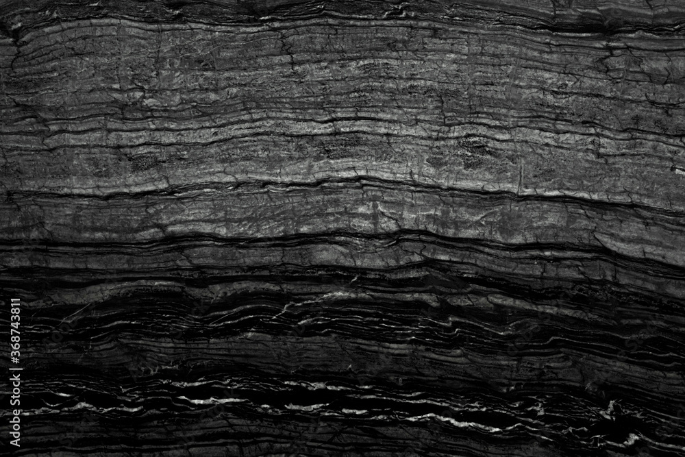 Fototapeta abstract marble black and white color wave pattern texture background