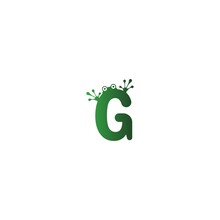 Letter G Logo Design Frog Foot...