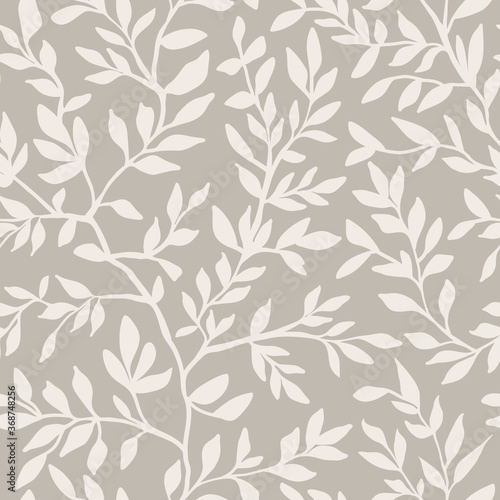 Fotomural Liana seamless pattern with leaves creeper
