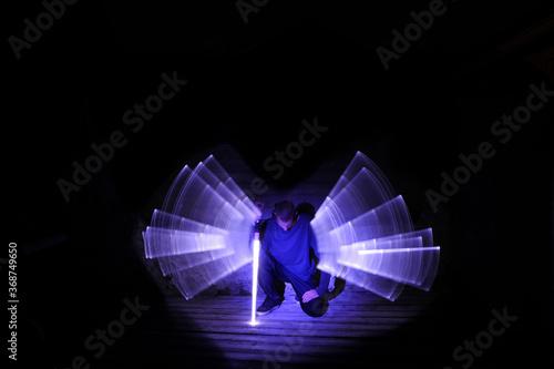 Fotografie, Obraz Lightpainting scene
