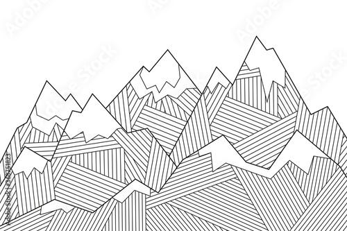 Canvas Print Tops, mountain slopes, mountain landscape, hilly terrain