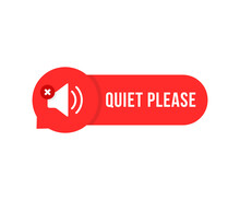 Red Quiet Please Bubble With Speaker