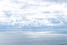 Calm Blue Sea And Sun Rays Pen...