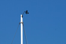 Meteorological Device For Measuring Wind Speed Against A Blue Sky