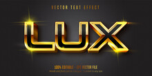 Lux Text, Shiny Gold Style Edi...