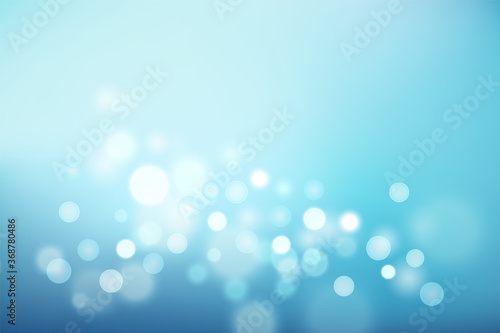 Abstract light blue gradient background and bokeh effect Canvas Print