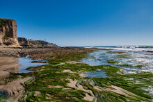 Rocks And Low Tide Ecosystem Shell Beach California Of The Pacific Ocean